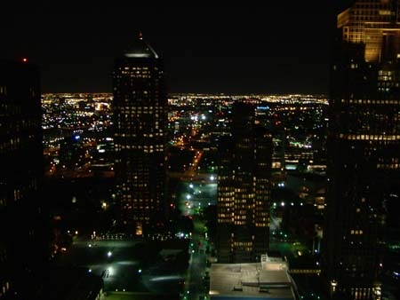 View over Dallas Downtown at night.