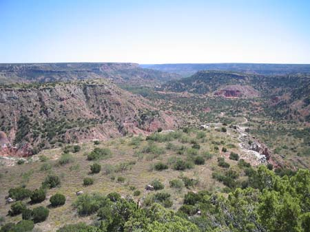 View over Palo Duro Canyon.